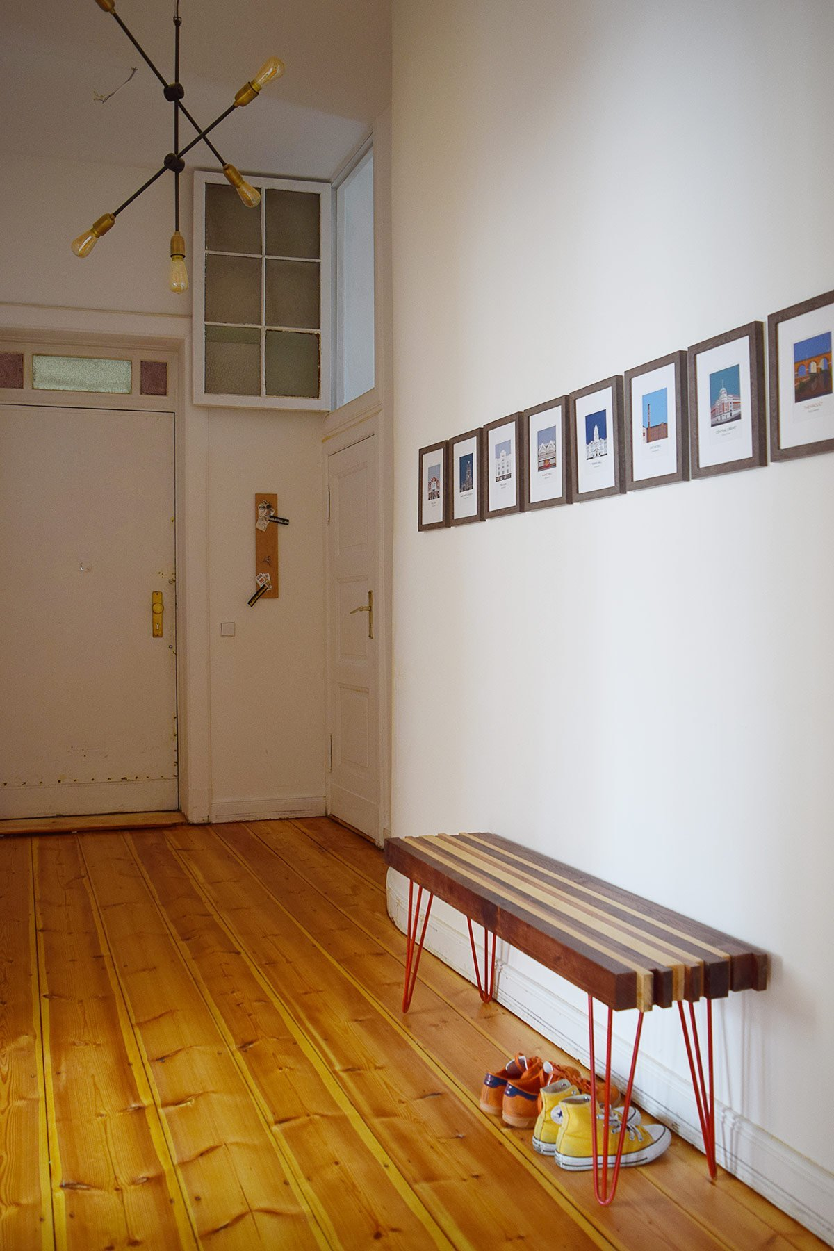 Hallway with DIY Bench | Little House On The Corner