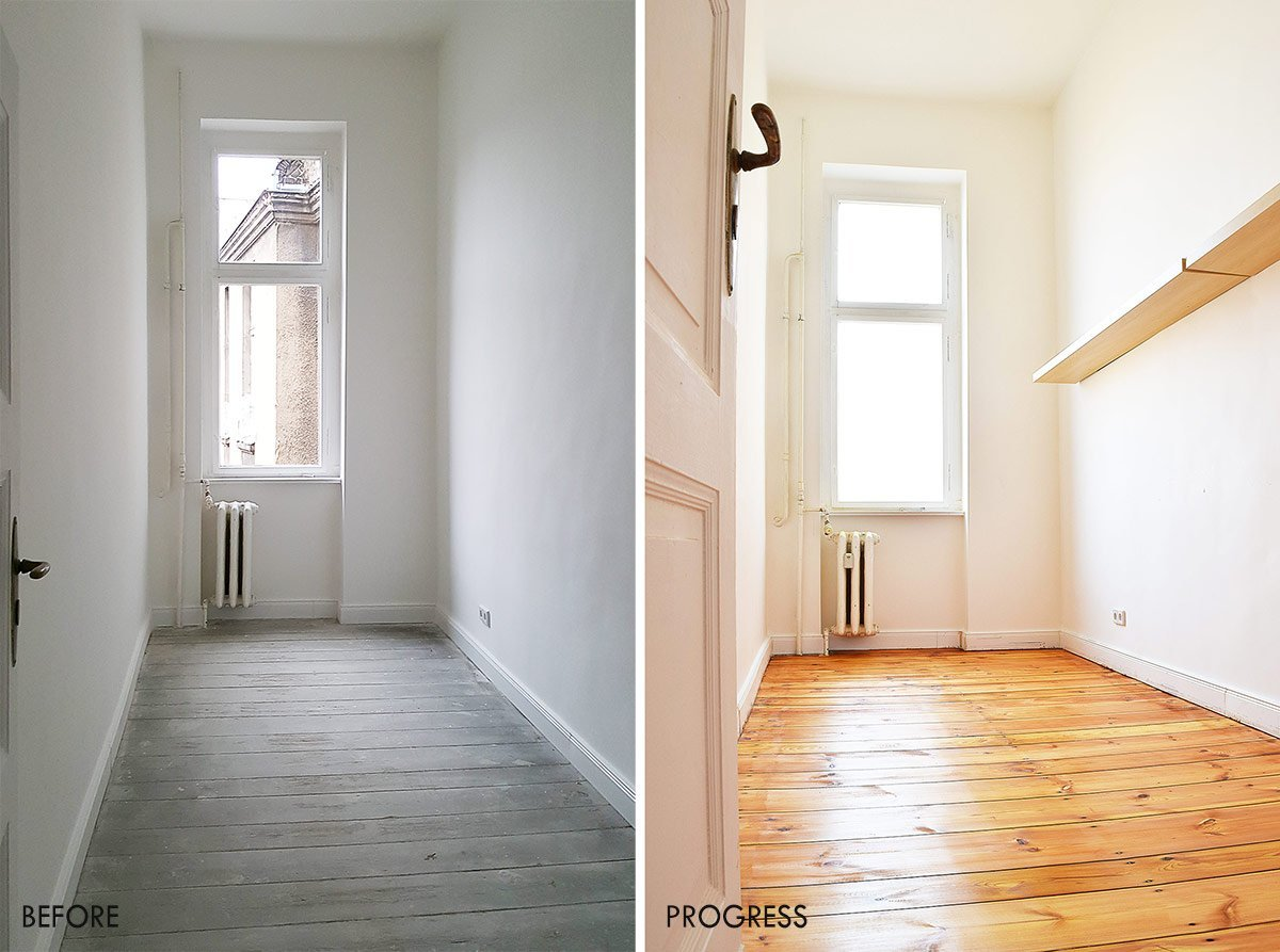 Dressing Room Before and After | Little House On The Corner
