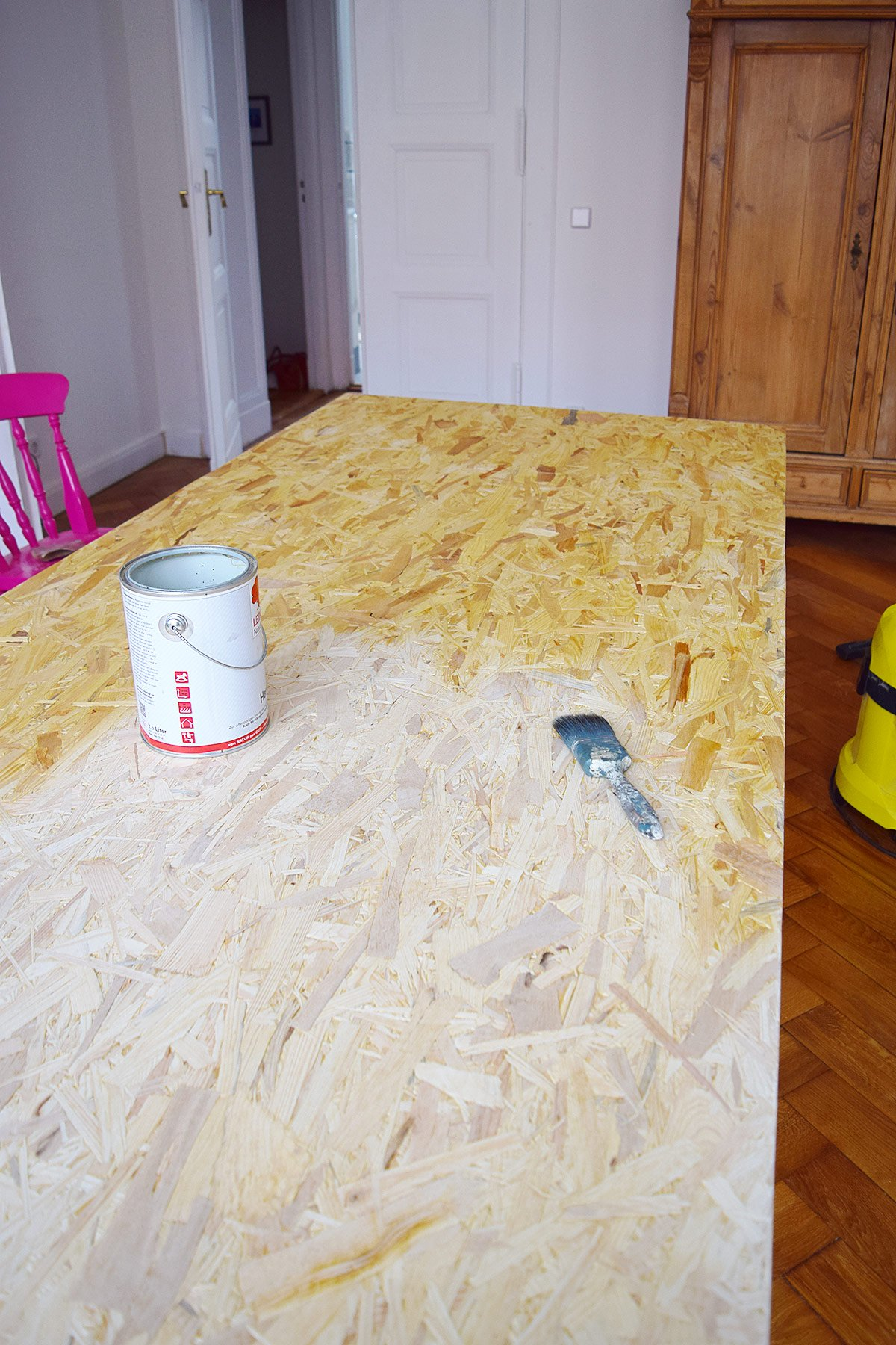 DIY Dining Table - Oiling The Surface | Little House On The Corner