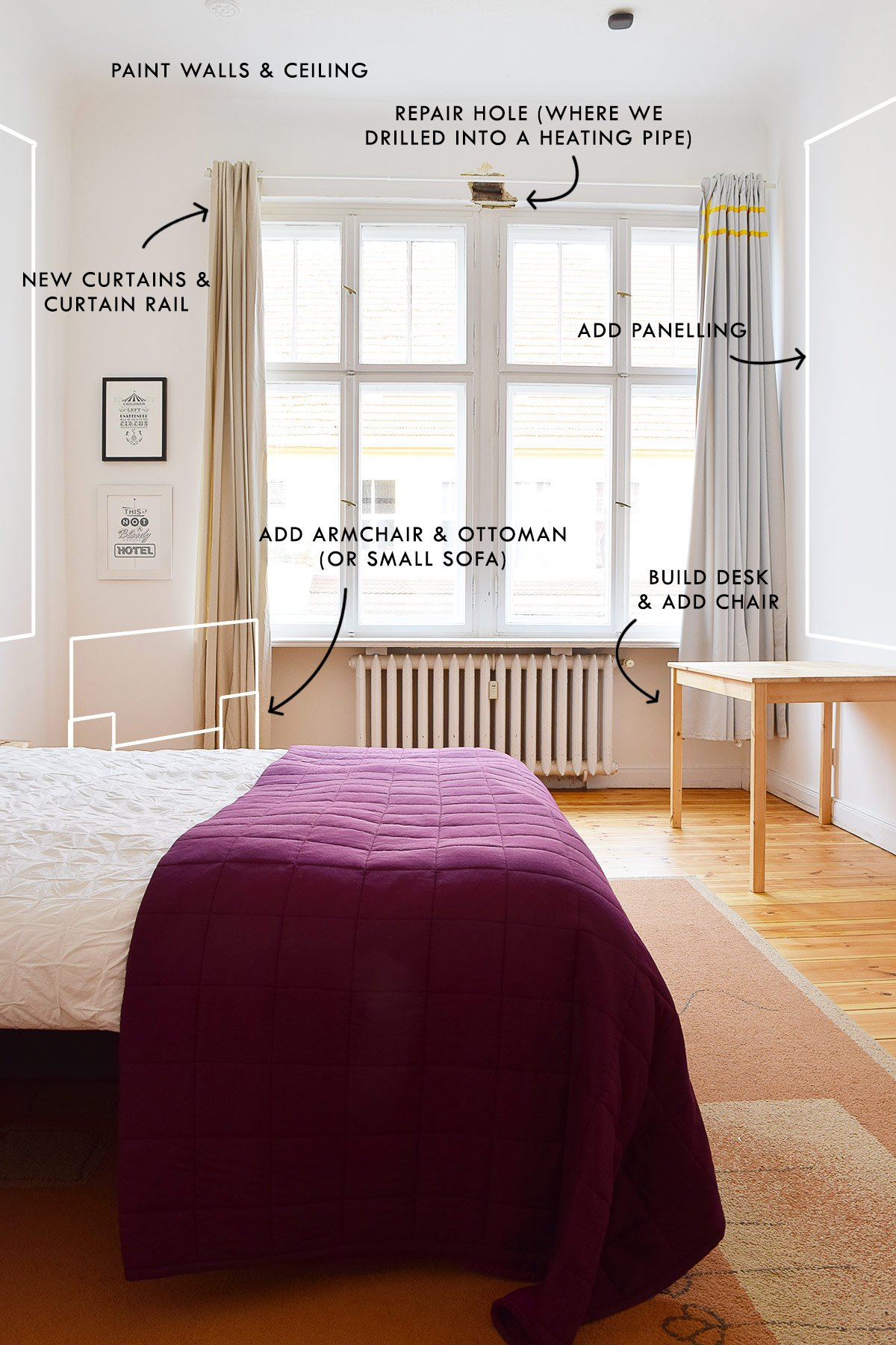 Guest Bedroom Updates - Our Airbnb Plans | Little House On The Corner