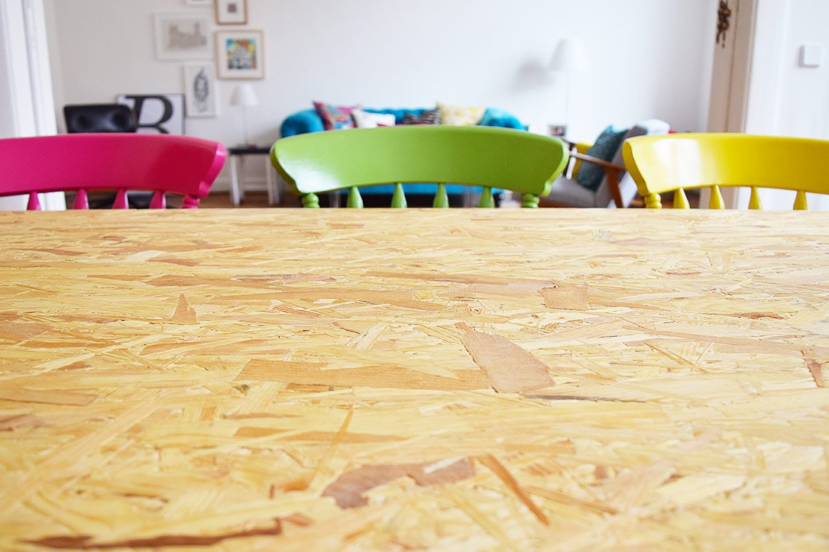 DIY Dining Table with OSB board | Little House On The Corner