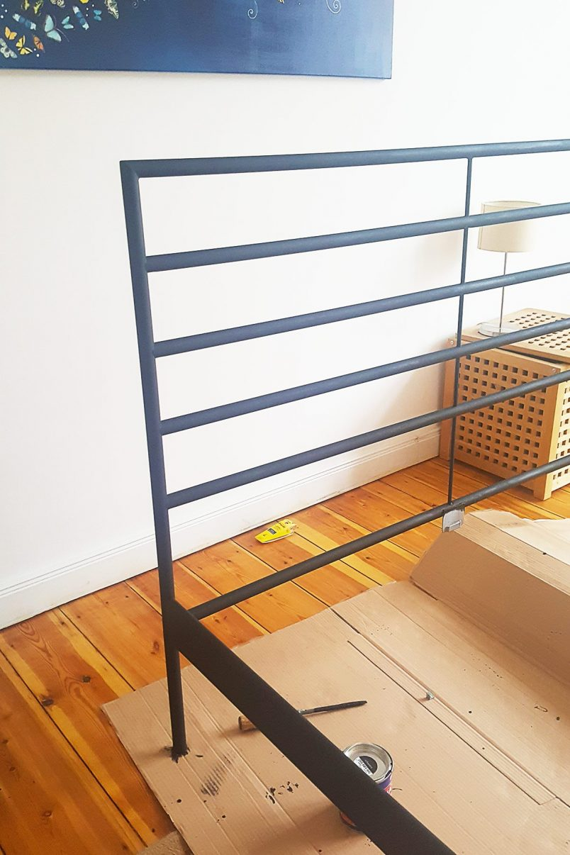 DIY Faux Wrought Iron Bed
