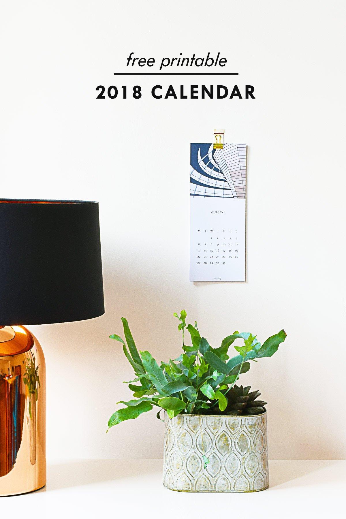 2018 Berlin Calendar - Free Calendar Printable | Little House On The Corner