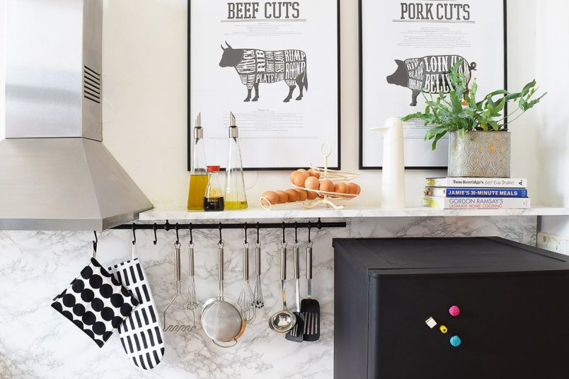 Kitchen Makeover with Farrow & Ball - Railings + Dimpse | Little House On The Corner