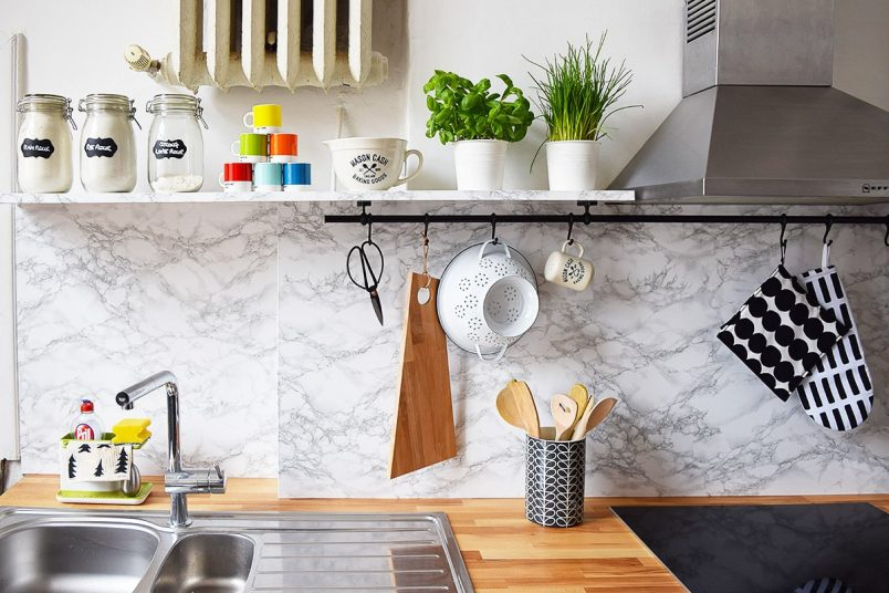 Kitchen Makeover DIY Picture Shelves   Little House On The Corner