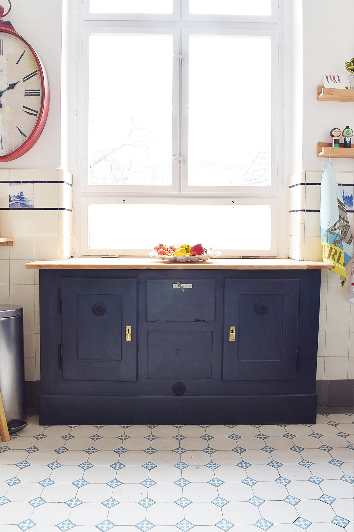 Antique Fridge Painted in Farrow & Ball Railings | Little House On The Corner
