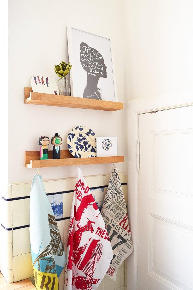 Kitchen Makeover DIY Picture Shelves | Little House On The Corner