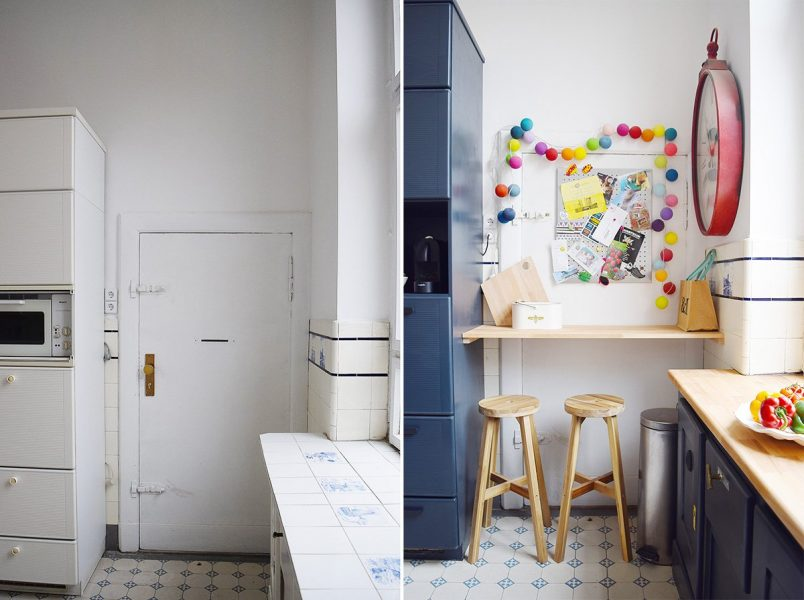 Kitchen Before and After - Towards Servants Door - Little House On The Corner