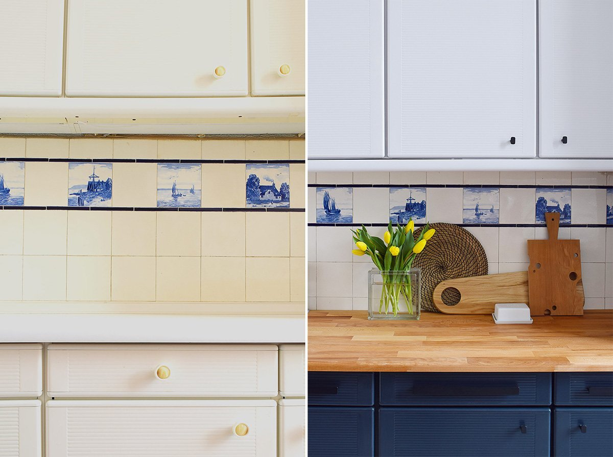 How To Paint Laminate Kitchen Cabinets + Tips For A ...