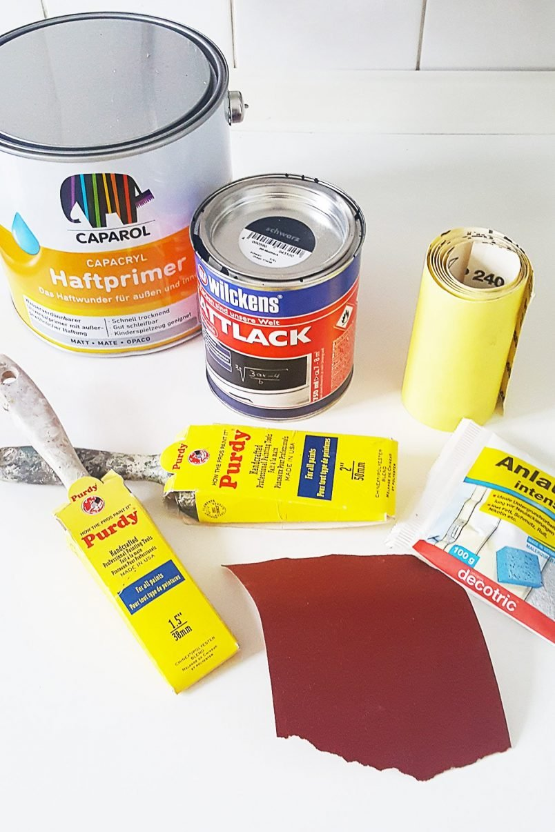 How To Paint A Fridge - Supplies   Little House On The Corner