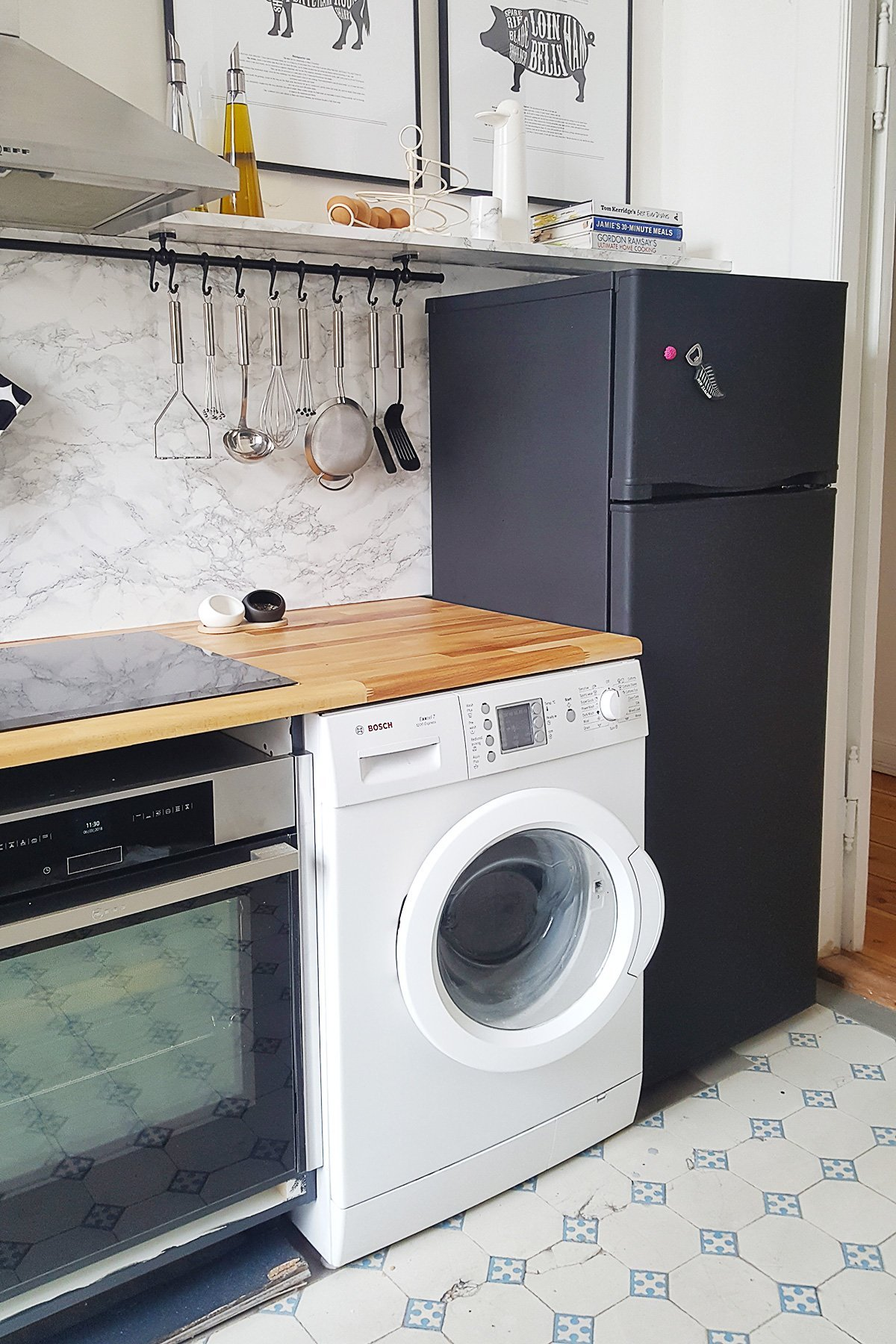 How To Paint A Washing Machine | Little House On The Corner