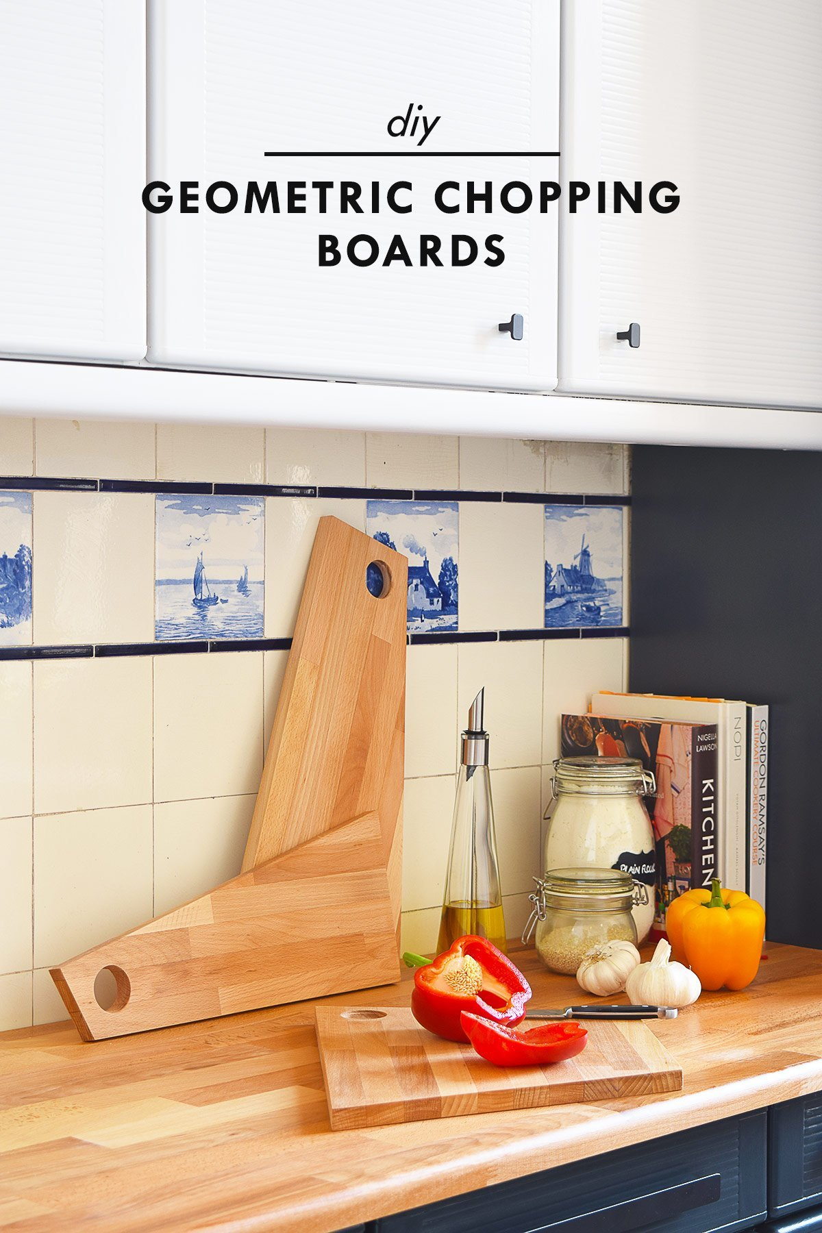 Diy Geometric Chopping Board A Sneaky Peek At Our Kitchen Makeover Little House On The Corner
