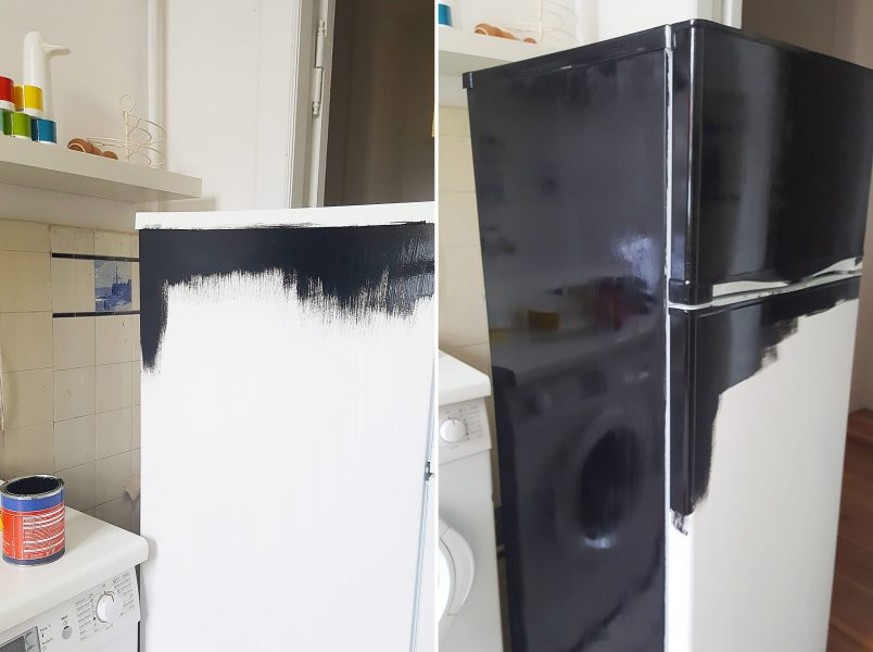 How To Paint A Fridge   Little House On The Corner