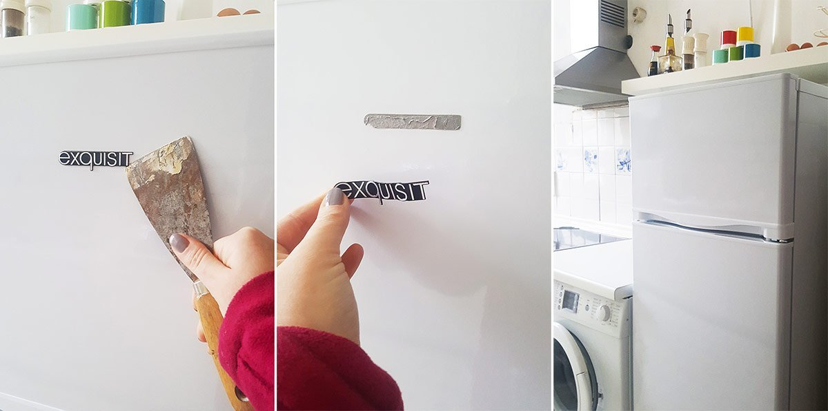 How To Remove A Fridge Logo | Little House On The Corner