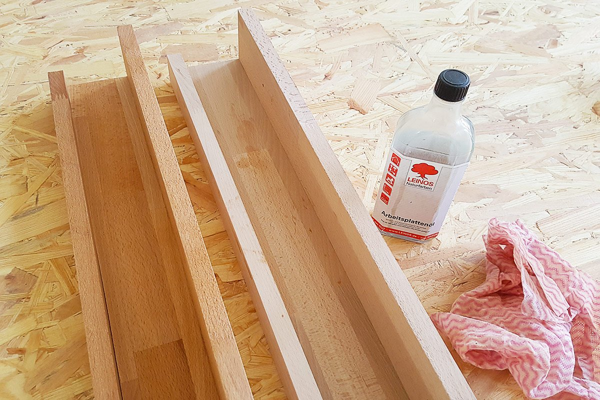 DIY Picture Shelf - Finishing | Little House On The Corner