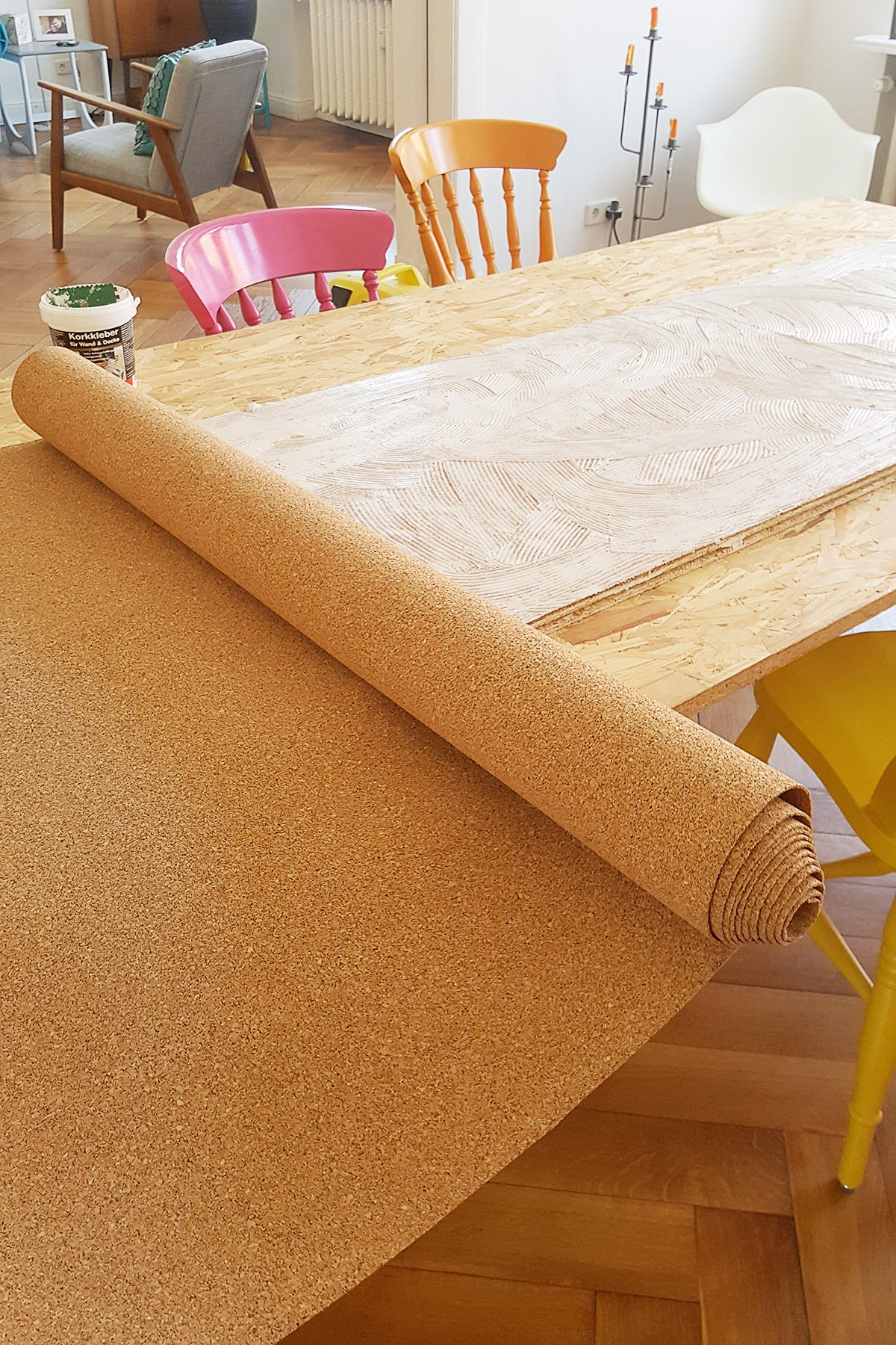 DIY Corkboard Wall | Little House On The Corner