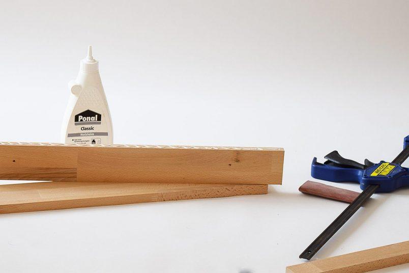 DIY Picture Shelf - Assemble | Little House On The Corner