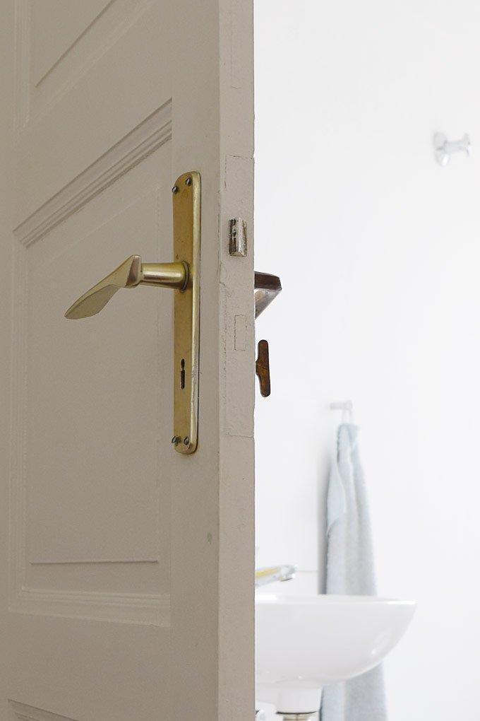 Guest Bathroom Door Handle - Before