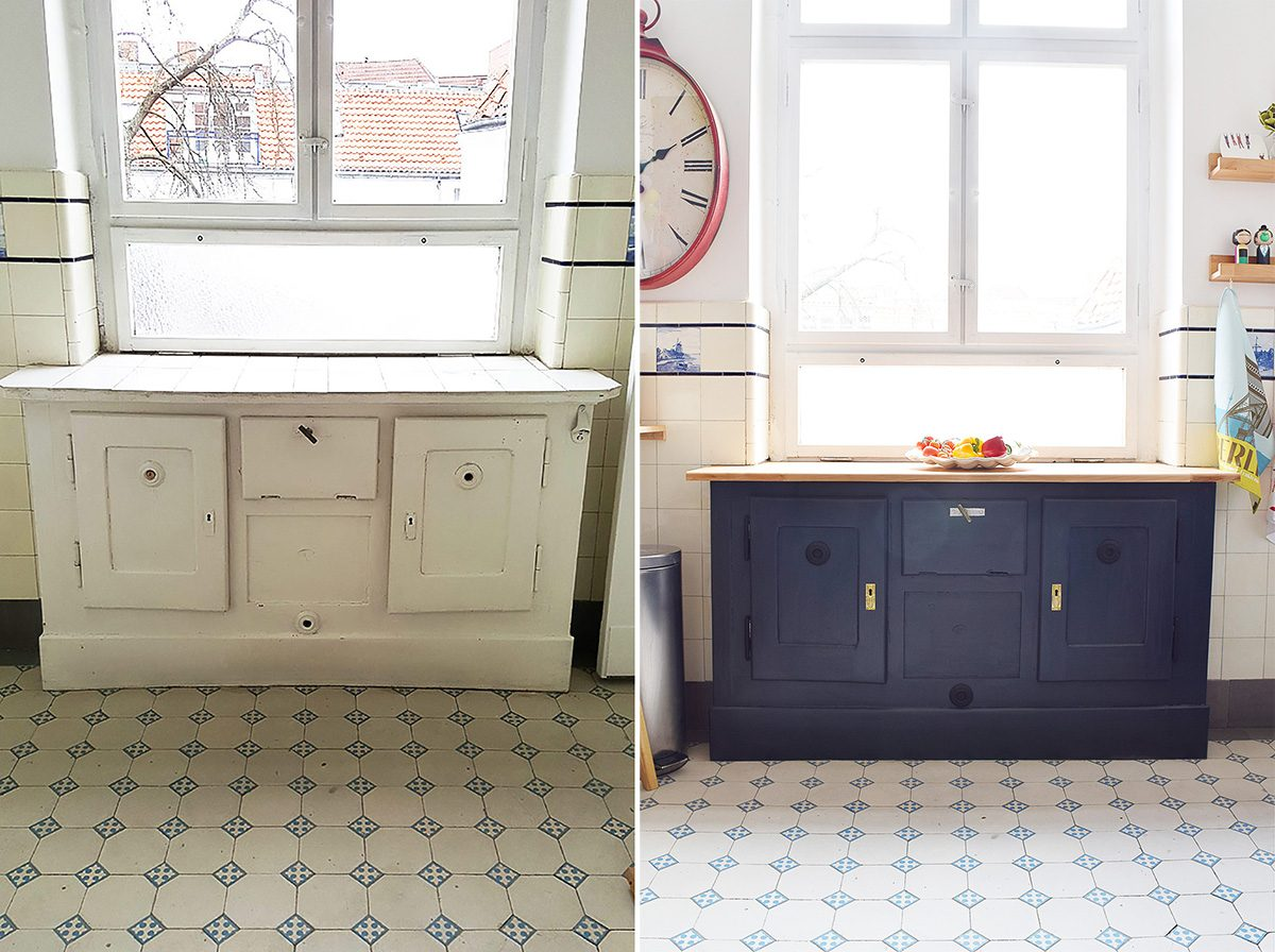 Antique Fridge Before and After - Little House On The Corner