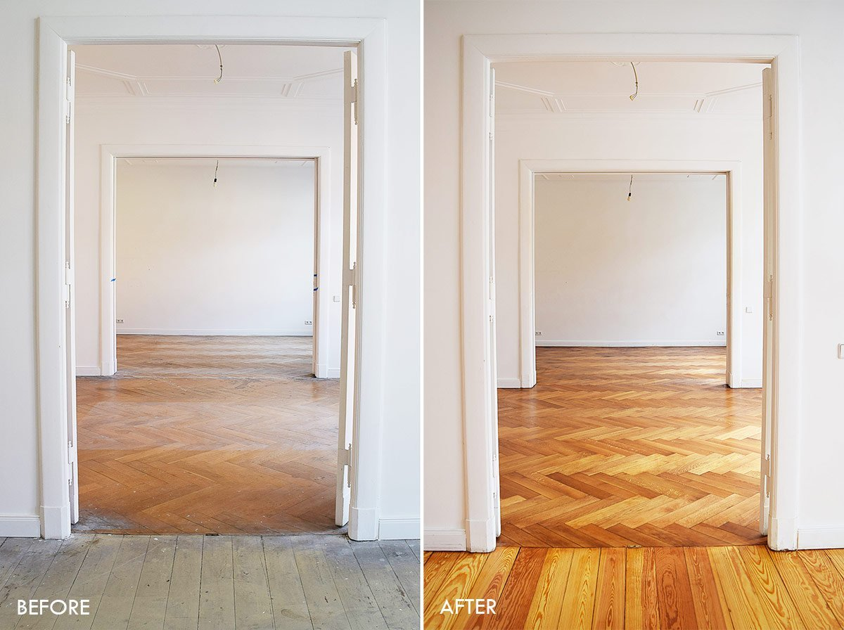 Floorsanding Before & After | Little House On The Corner