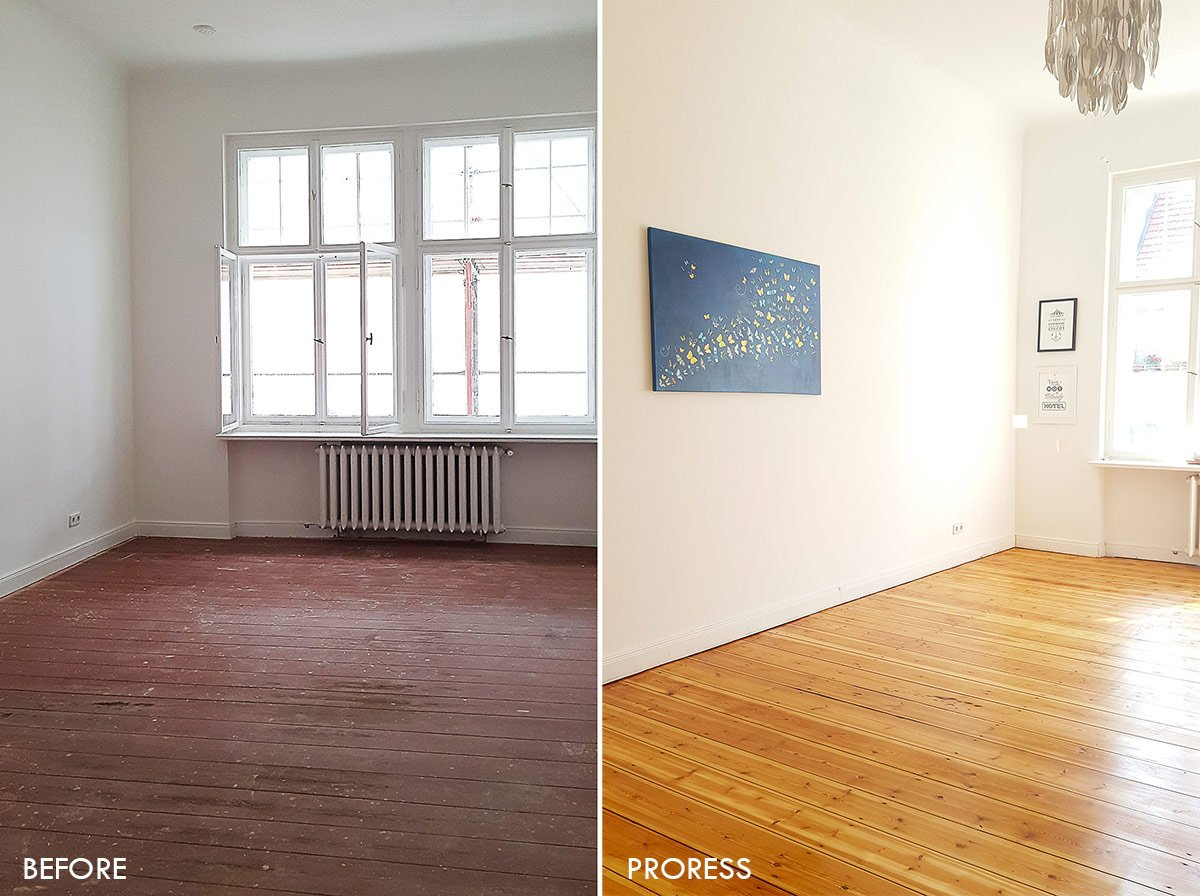 Guest Bedroom Before And After Floor Sanding | Little House On The Corner