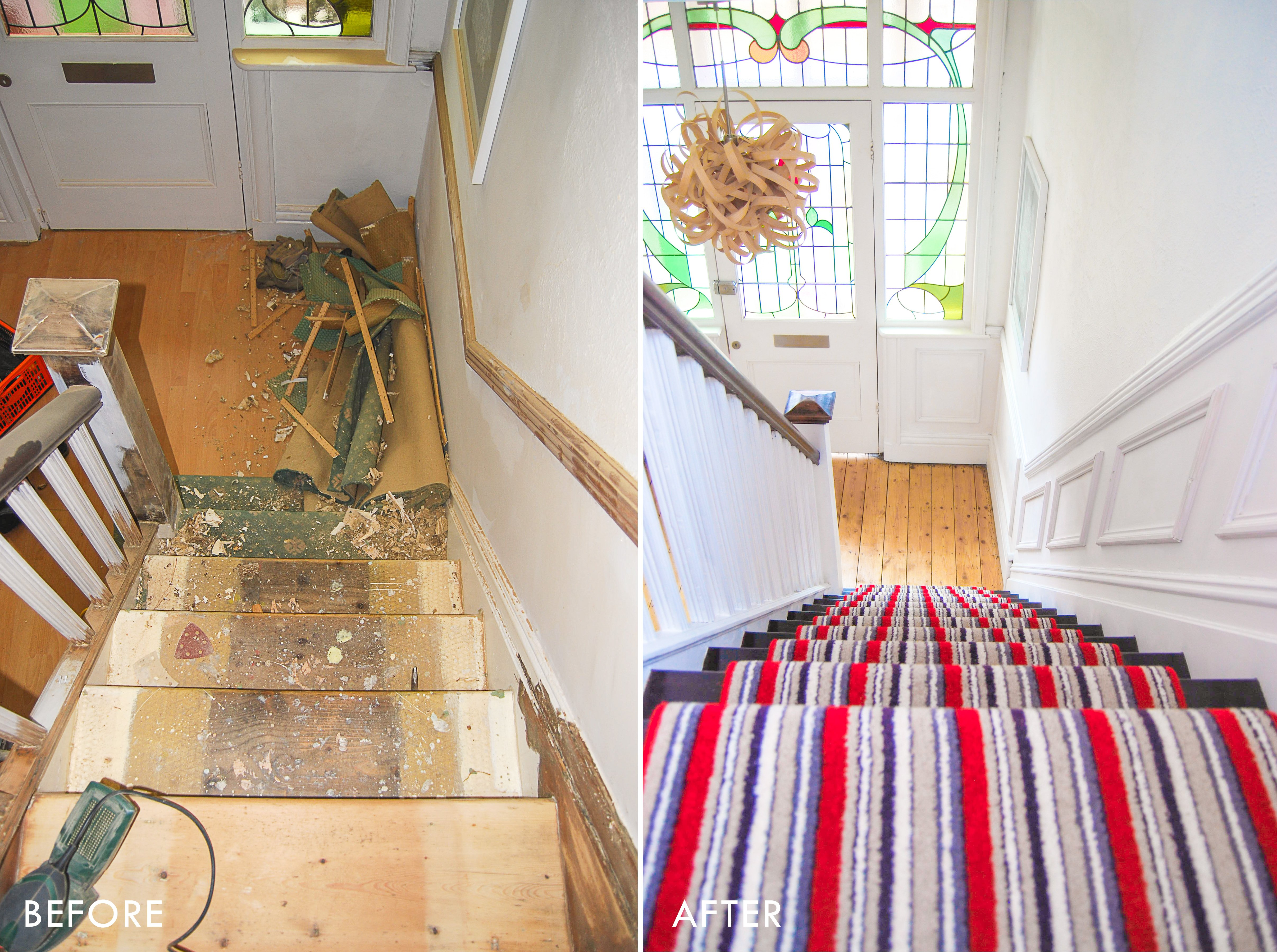 Staircase Before & After | Little House On The Corner