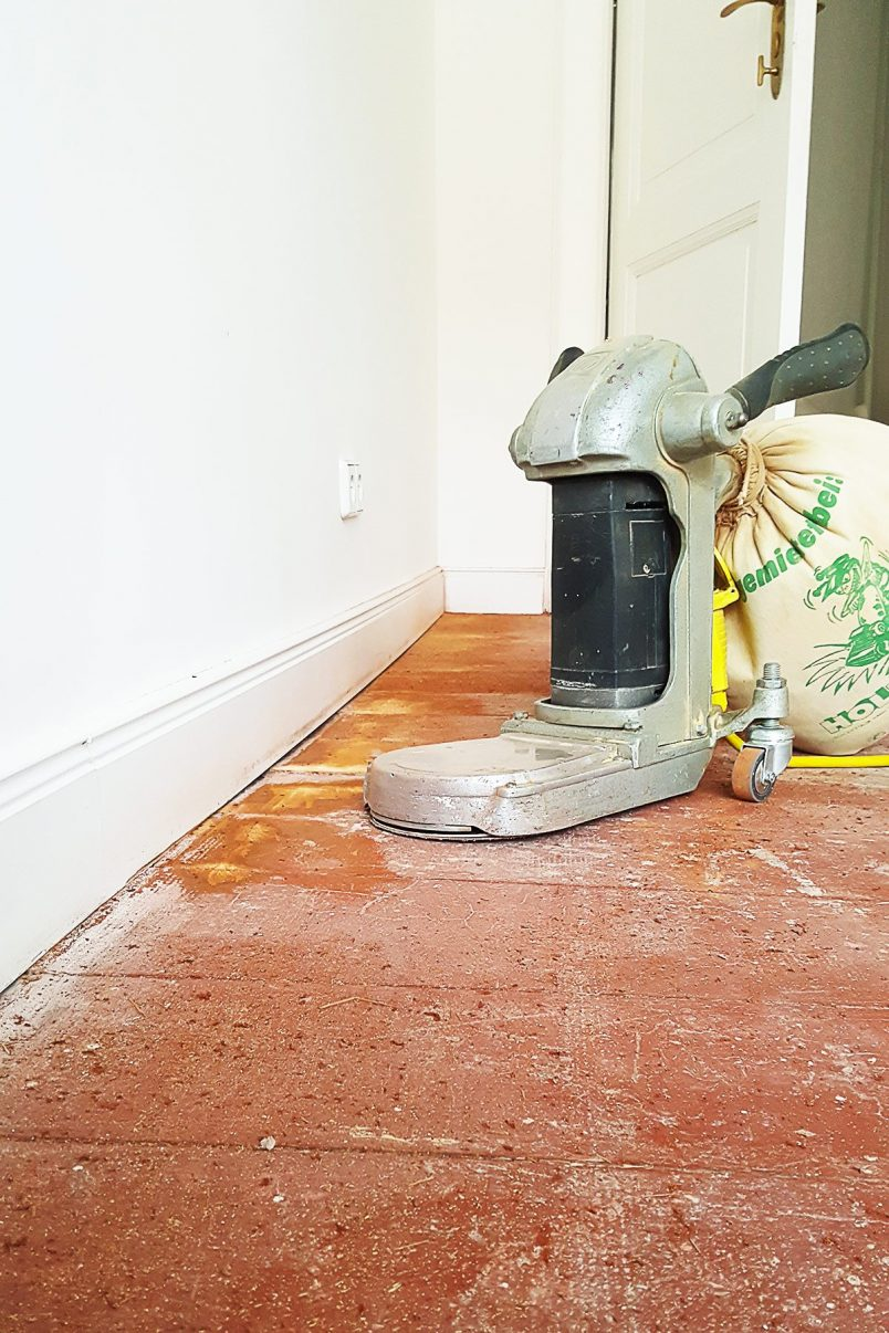 Sanding Floors - Edging Sander | Little House On The Corner