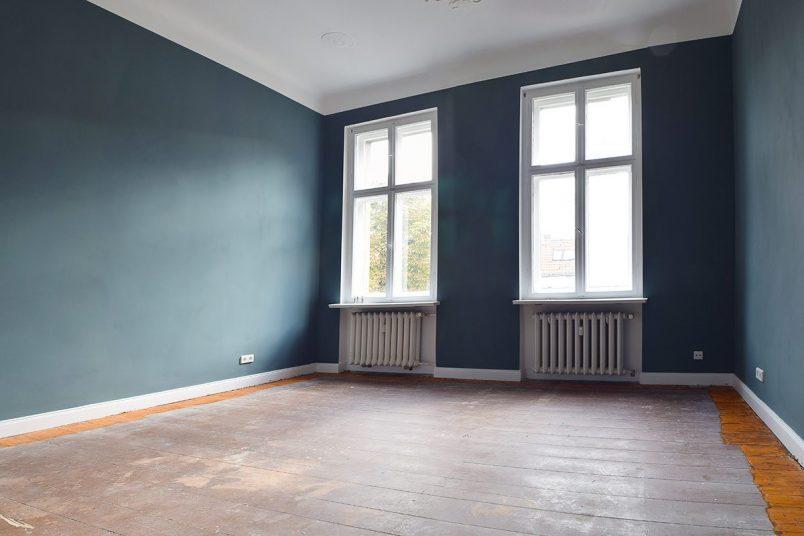 Bedroom In Progress - Inchyra Blue   Little House On The Corner