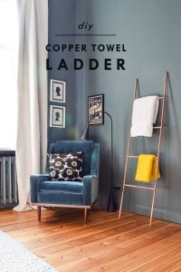 DIY Copper Towel Ladder | Little House On The Corner