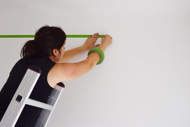 Taping The Edge Of The Room | Little House On The Corner