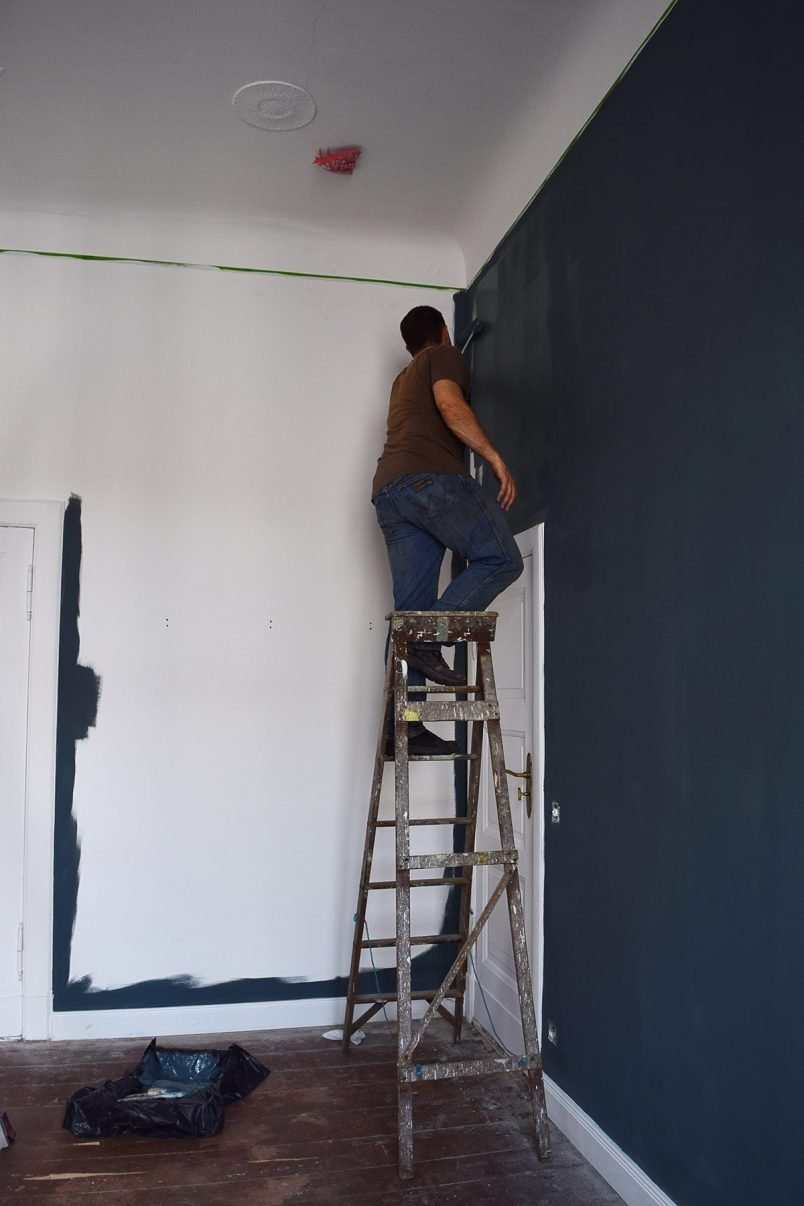 Painting Our Bedoom - Inchyra Blue   Little House On The Corner