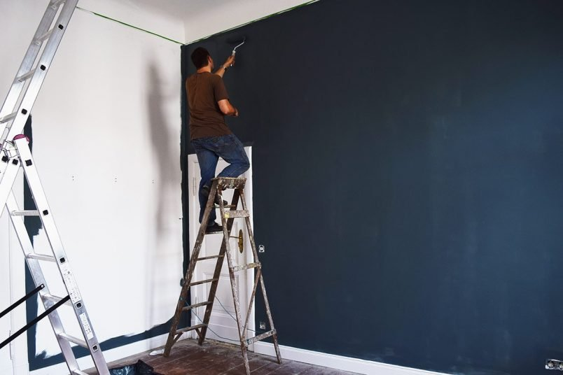 Inchyra Blue Bedroom Painting In Progress   Little House On The Corner