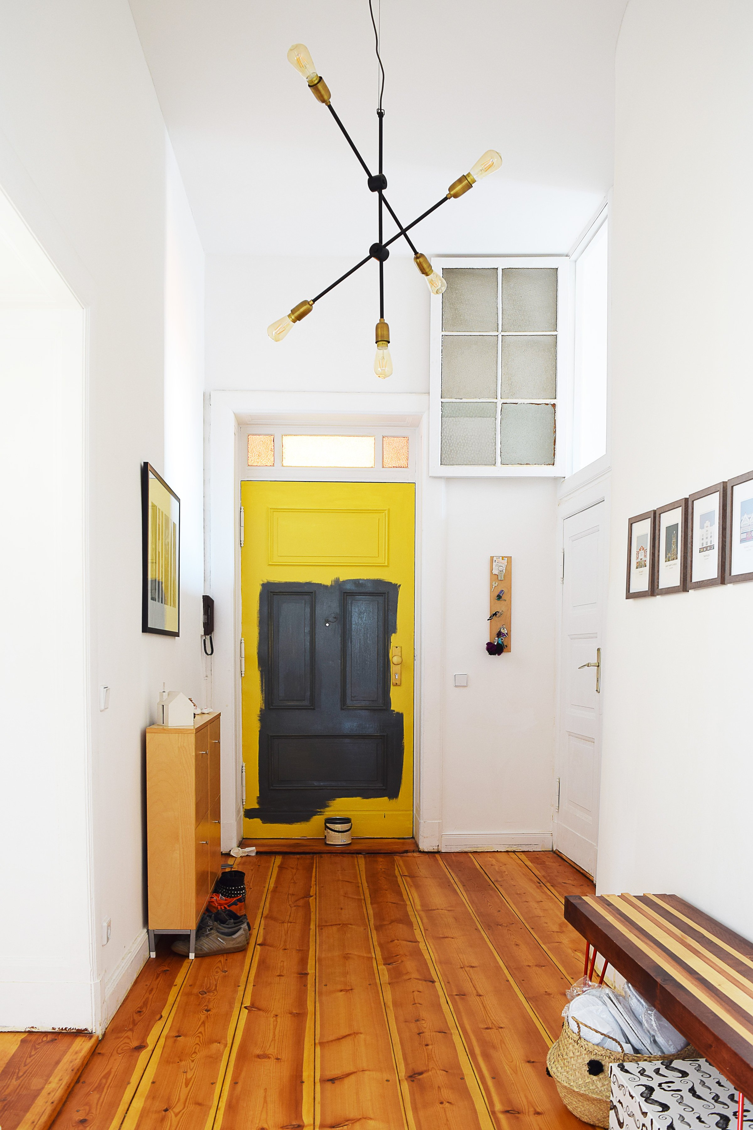 Front Door Makeover - Farrow & Ball Paean Black - Little House On The Corner