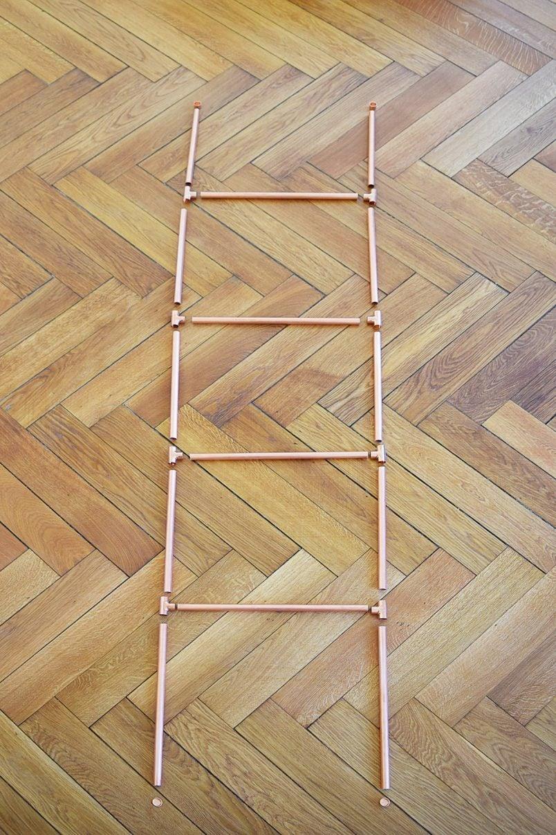 DIY Copper Towel Ladder - Connect | Little House On The Corner