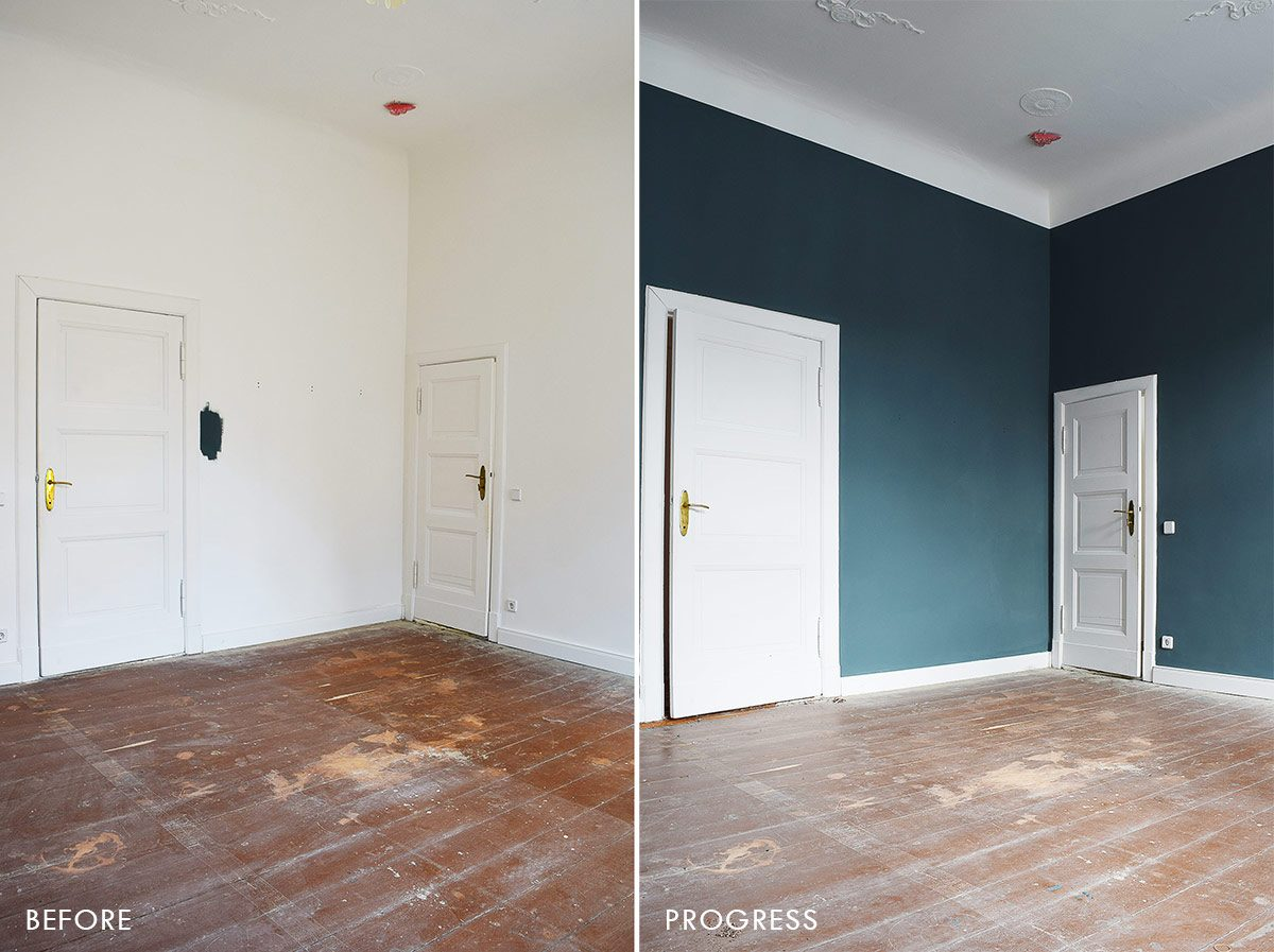Guest Bedroom Painted Inchyra Blue | Little House On The Corner