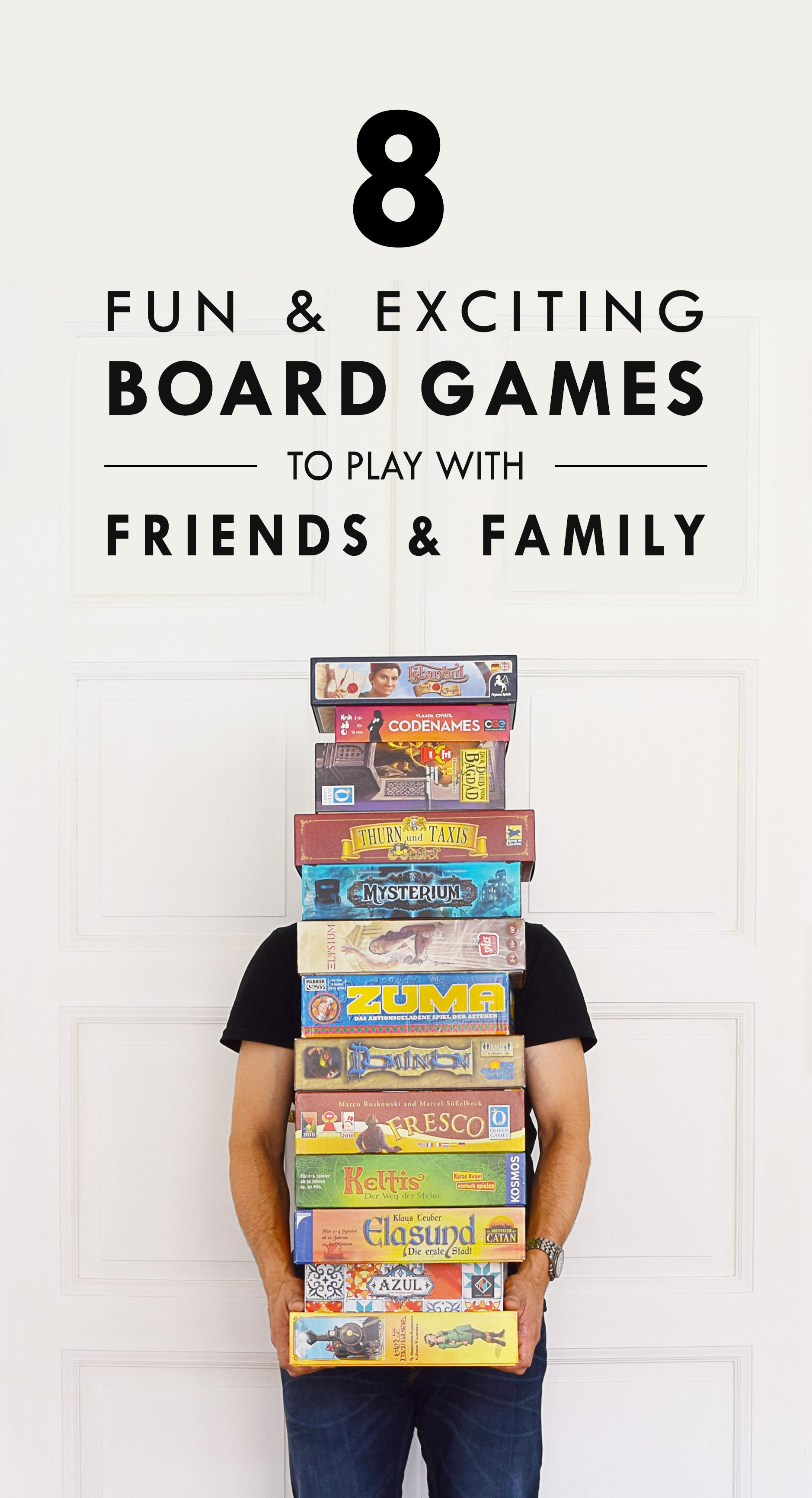 8 Board Games To Play With Friends & Family | Little House On The Corner