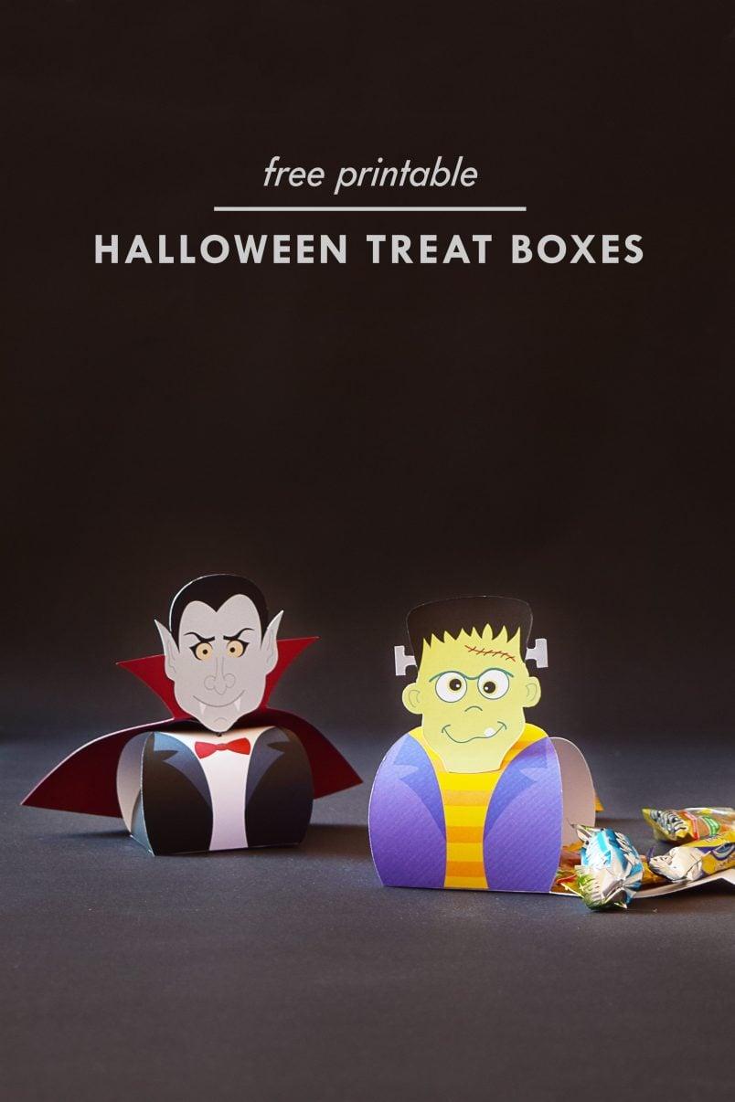 DIY Halloween Treat Boxes | Free Printable | Little House On The Corner