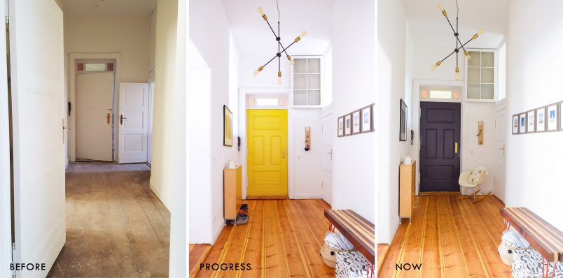 Front Door Makeover - Paean Black - Farrow & Ball | Little House On The Corner