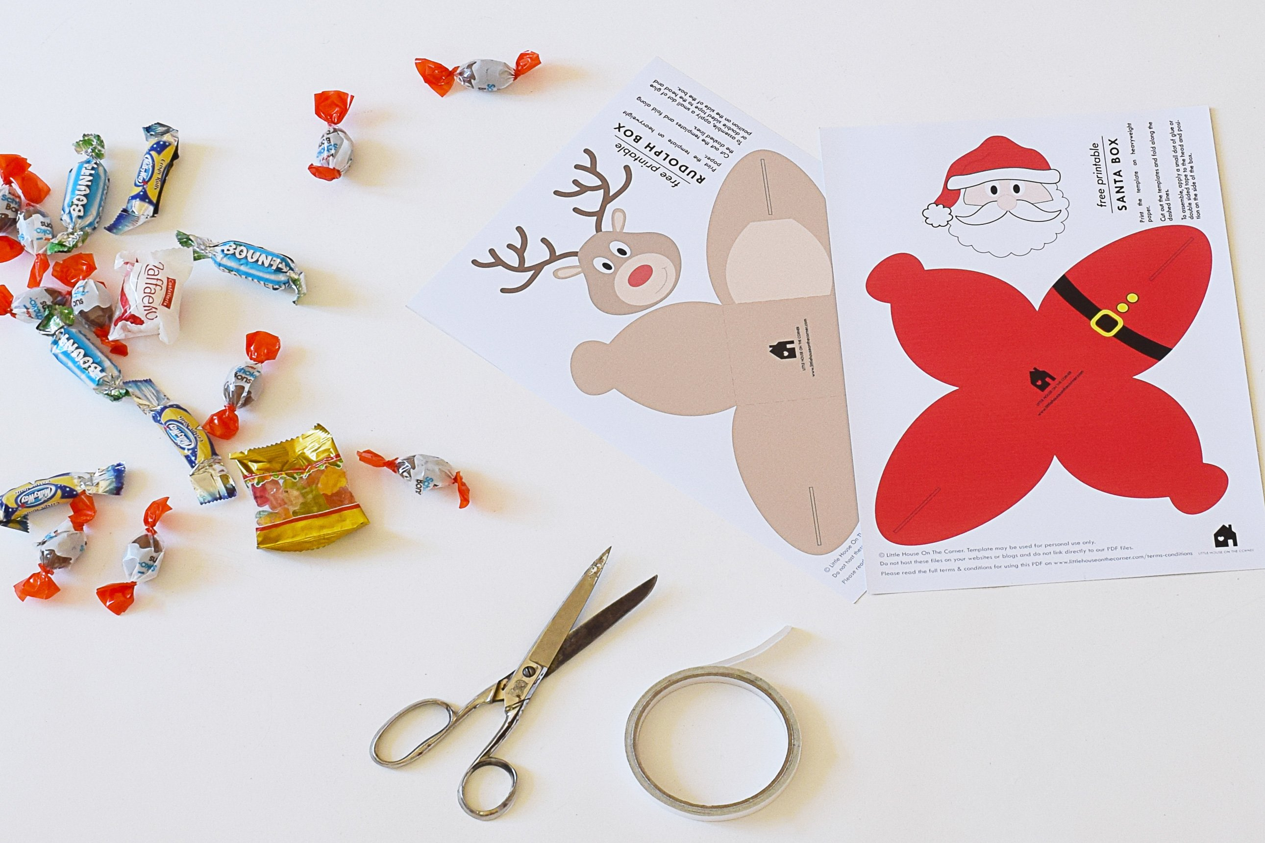 Free Printable Christmas Gift Boxes | Little House On The Corner