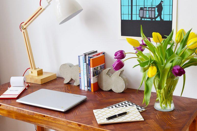 DIY Herringbone Desk | Little House On The Corner