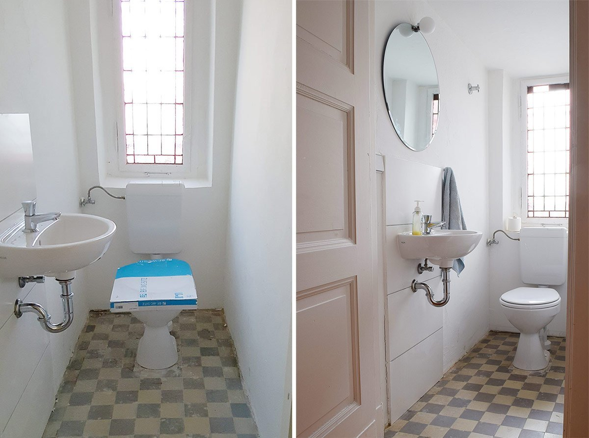 Guest Bathroom Before & Still Before | Little House On The Corner