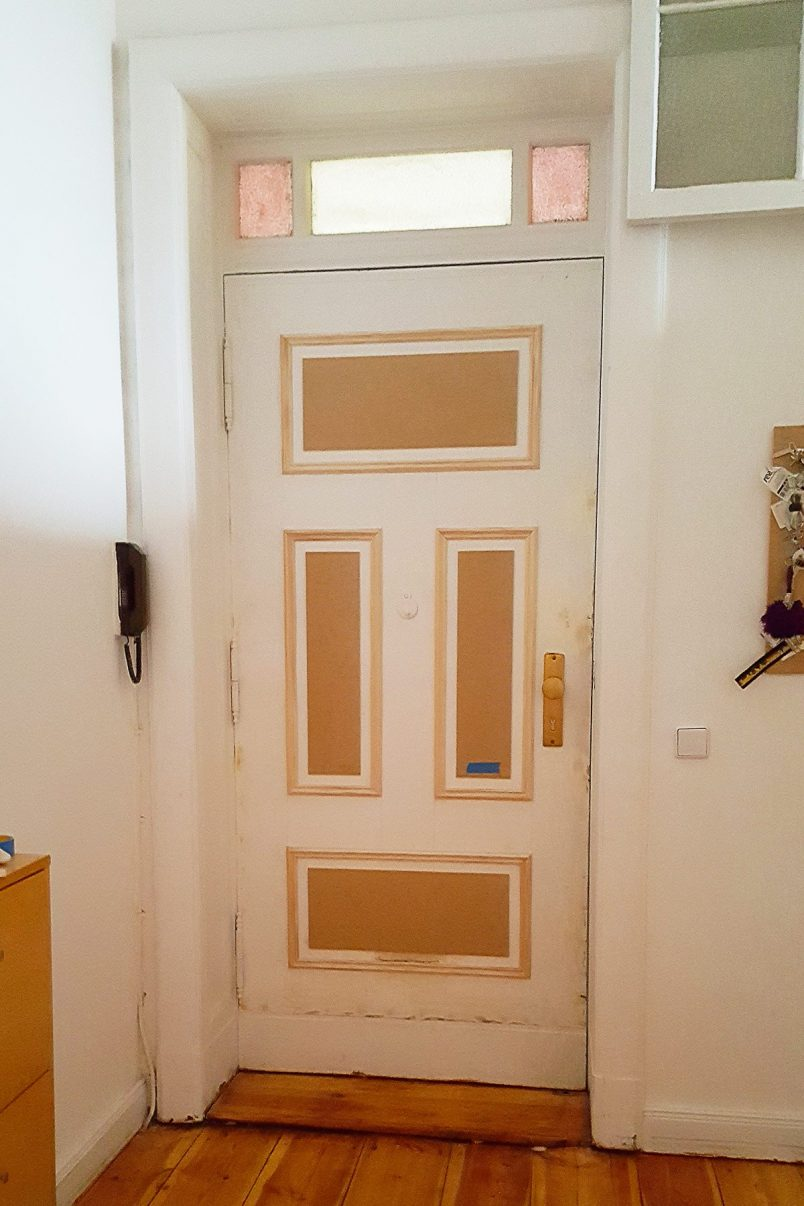 How To Update A Door With Moulding | Little House On The Corner