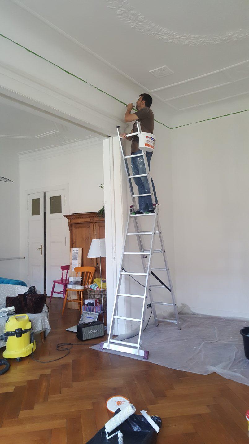 Painting In Progress | Living Room Makeover | Little House On The Corner