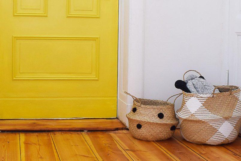 Statement Door - Yellow Front Door with Panelling | Little House On The Corner