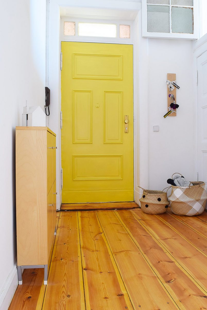 Yellow Front Door With Panelling | Little House On The Corner