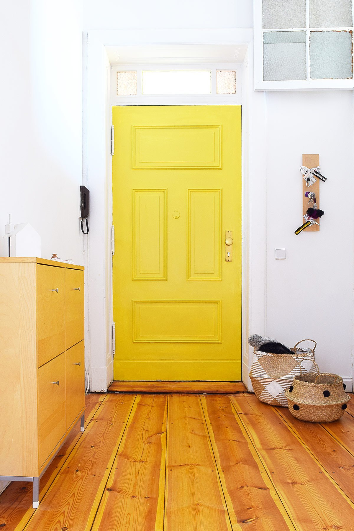 Statement Door - Yellow Front Door with Panelling | Little House On The Corner