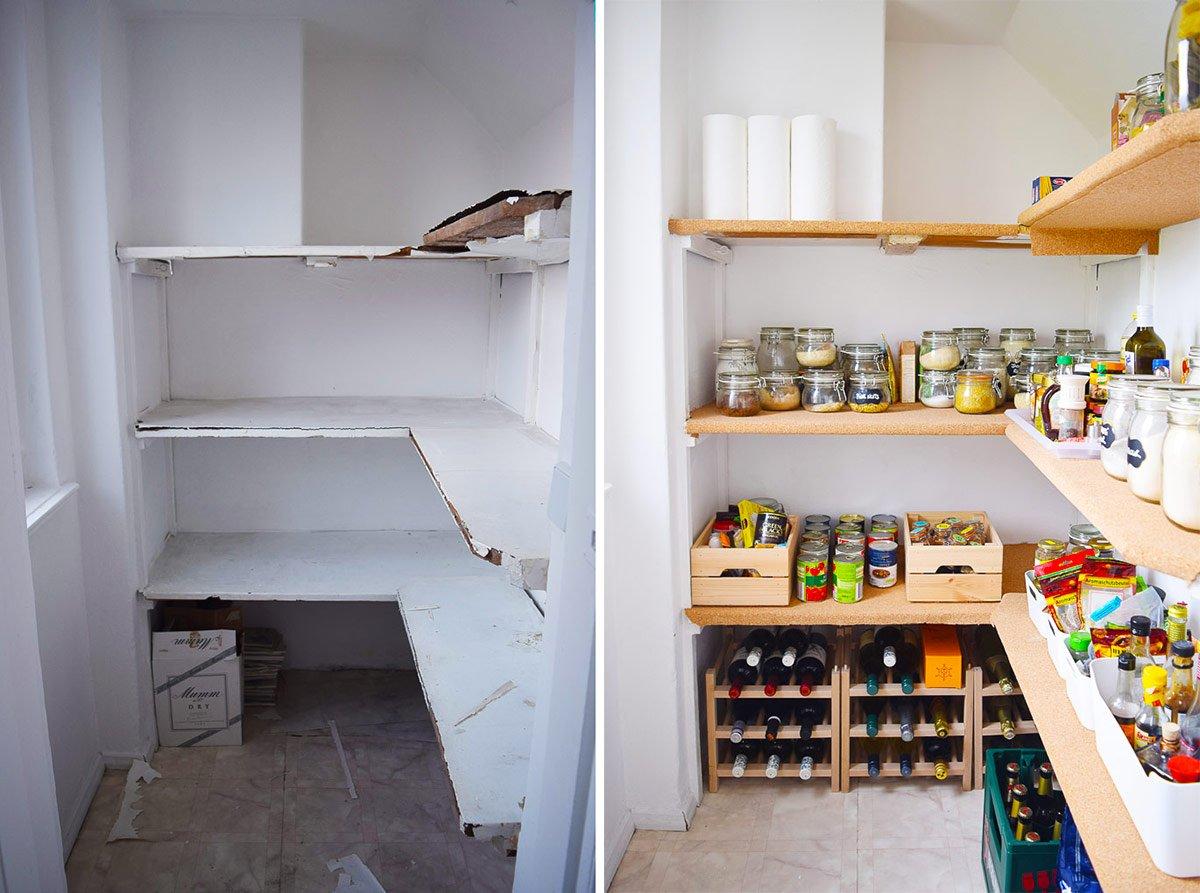 Pantry Before & Progress | Little House On The Corner