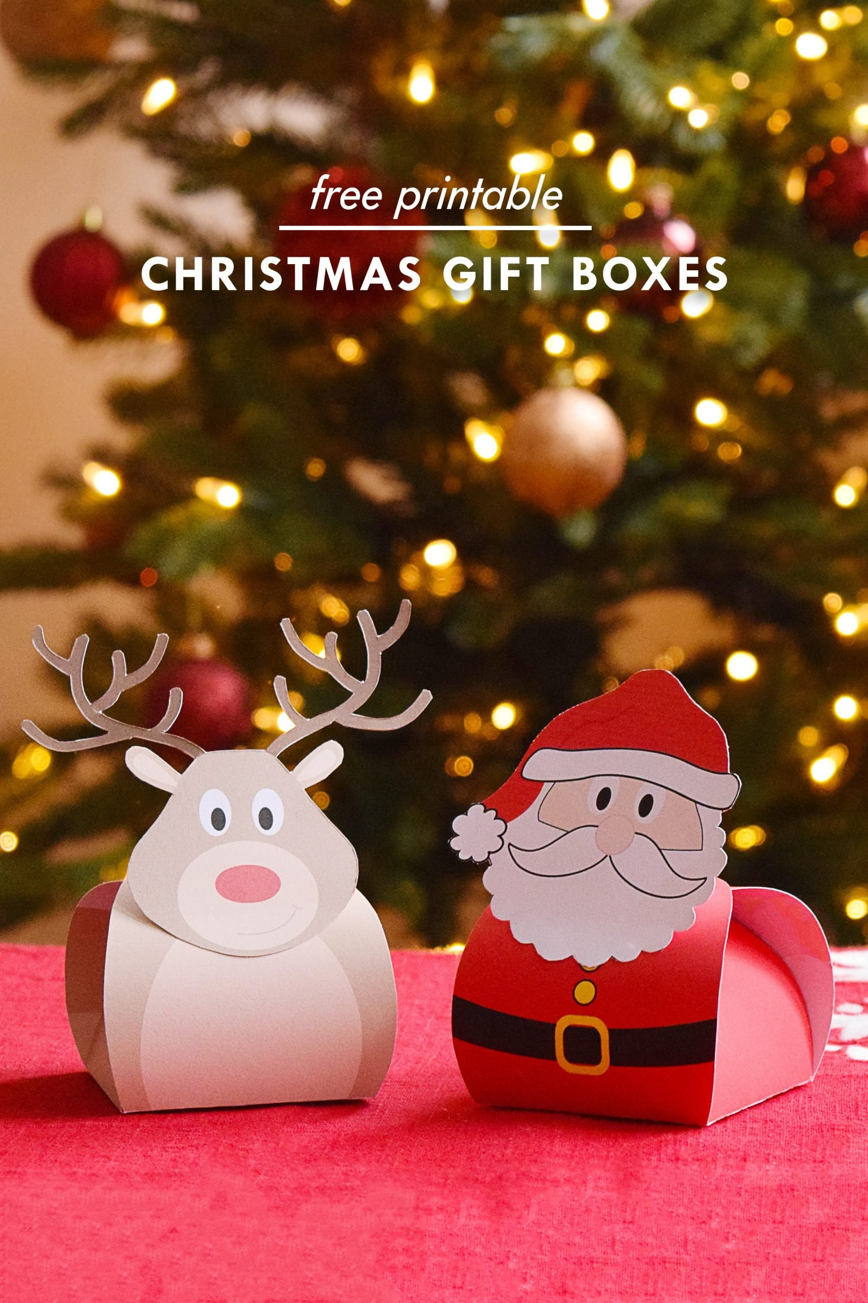 Christmas Gift Boxes A Free Printable For You Little House On The Corner
