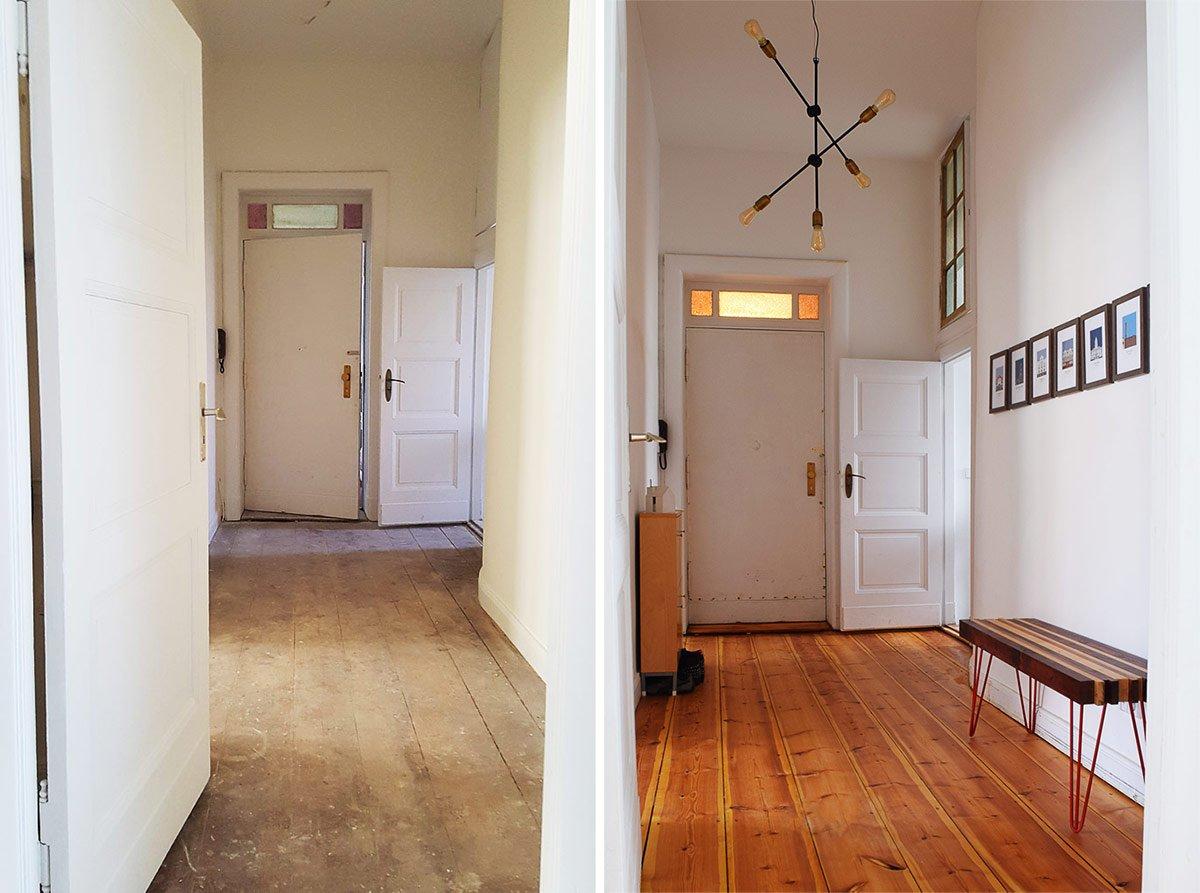 Hallway Before & Progress | Little House On The Corner