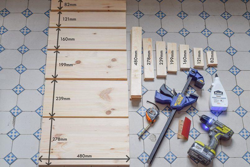 DIY Ladder Shelf - Measurements | Little House On The Corner